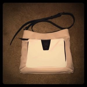 Tricolored (Cream/White/Black) Cross-body Purse 👜